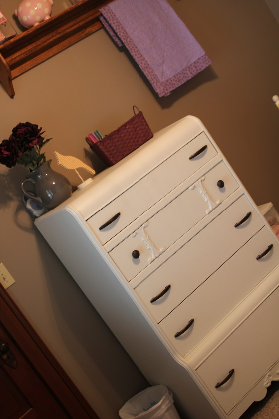Dresser courtesy of Uncle Steve... just needed paint and new handles! No need for the burn pile.