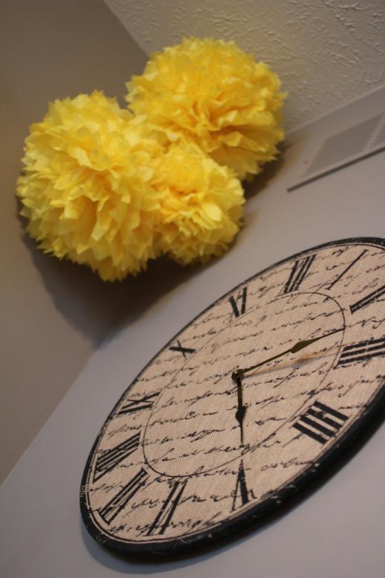 Hobby Lobby clock: $12. Boom.