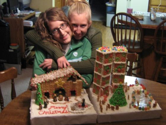 Gingerbread Houses Tara and Shauna 2