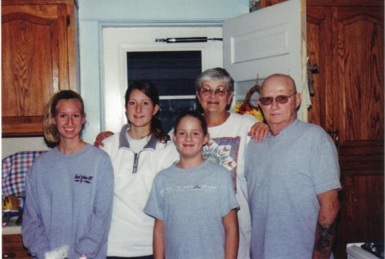 Grandma, Grandpa, Tara, Claire, Shauna