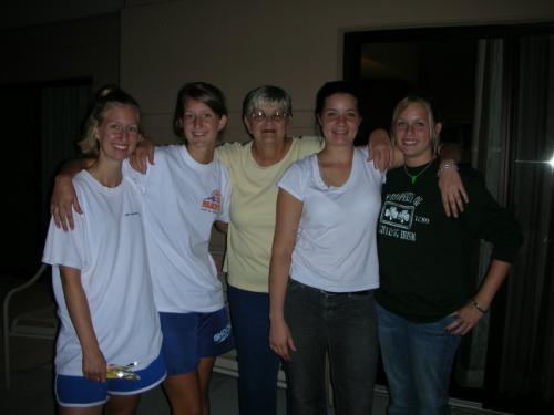 Tara, Shauna, Grandma, Megan, Claire